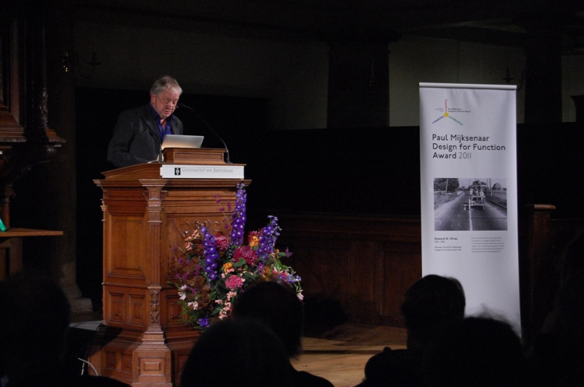 Paul Mijksenaar during the Award ceremony