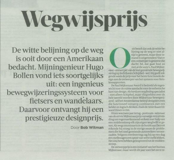 Wegwijsprijs (de Volkskrant)