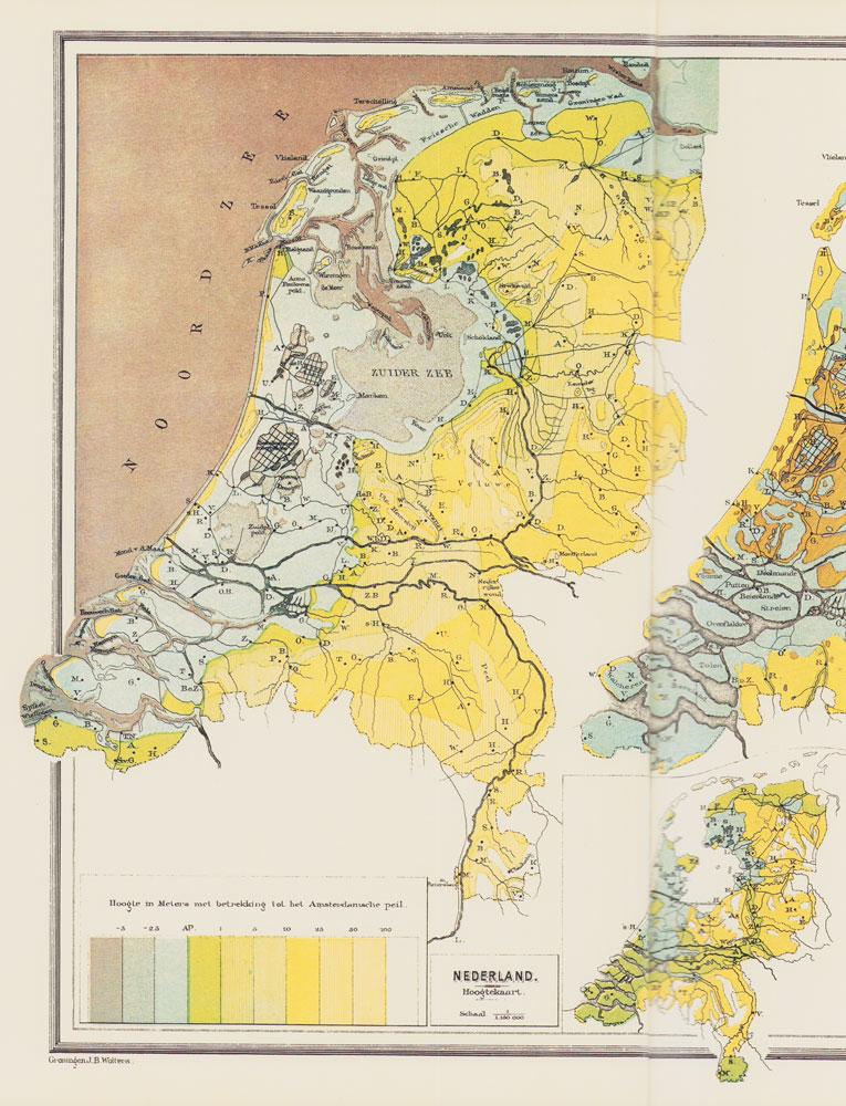 kleurenkaart van Nederland