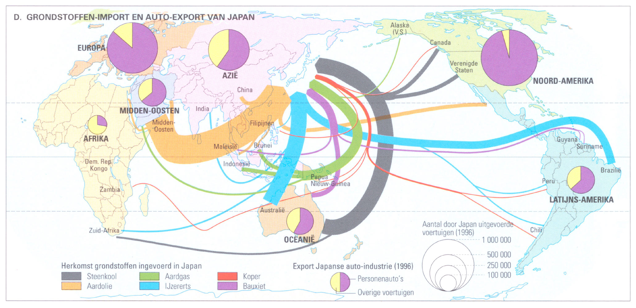 thematic map car industry Japan